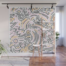 squiggle wiggles Wall Mural