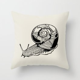 Carnivorous Snail Throw Pillow