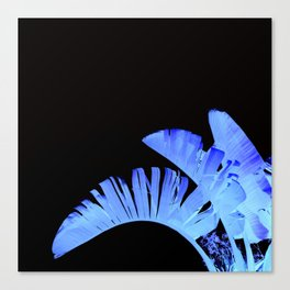Neon Glow Tropical Palm Fronds Canvas Print