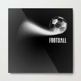 American Football Sports Gift Metal Print