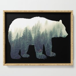 Misty Forest Bear Serving Tray