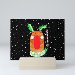 Red Nose Reindeer Mini Art Print