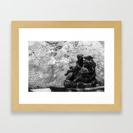 Lion in Distress Framed Art Print