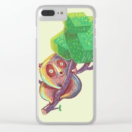 Lil Loris into the Wild Clear iPhone Case
