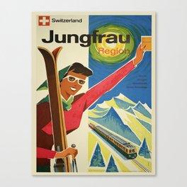 Vintage poster - Jungfrau, Switzerland Canvas Print