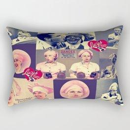 RETRO LUCY COLLAGE Rectangular Pillow