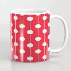 Red Lined Polka Dot Mug