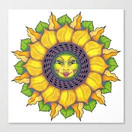 Sunflower Sunshine Girl by Amanda Martinson Canvas Print