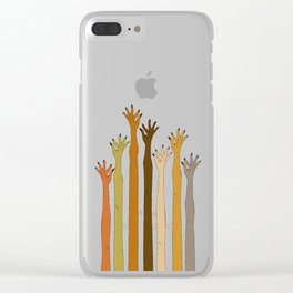 Hands Don't Judge Clear iPhone Case