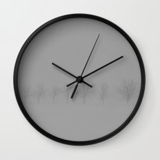 Trees in the Snow Wall Clock