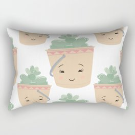 Baby Succulent Illustration Rectangular Pillow