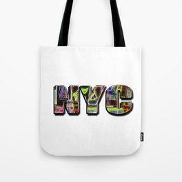 NYC (typography) Tote Bag