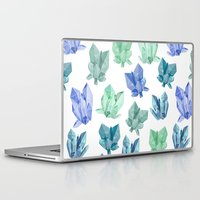 crystals Laptop & iPad Skins featuring Crystals by Marta Olga Klara