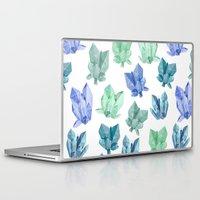crystals Laptop & iPad Skins featuring Crystals by Marta Olga Klara