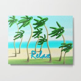 Relax at the Beach Metal Print