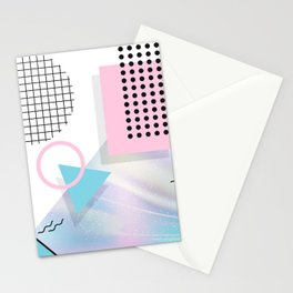 Memphis Pastels Stationery Cards