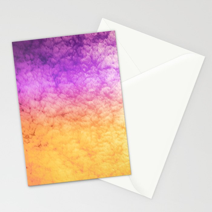 Orange and Purple Stationery Cards