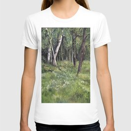 Woodland Forest Landscape Nature Art T-shirt