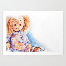 Raggedy Rosie ... Rag Doll Art Print