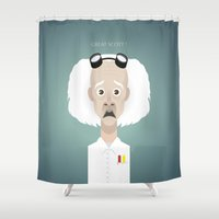 uk Shower Curtains featuring Doc Brown UK by Bady Church