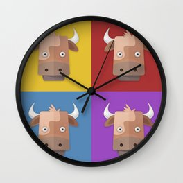 Warhol's Cow Wall Clock