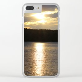 Sunset at Concord's Walden Pond 8 Clear iPhone Case