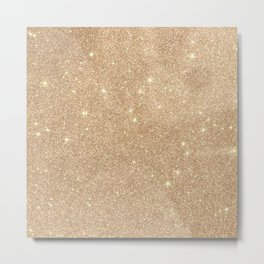 Gold Glitter Chic Glamorous Sparkles Metal Print