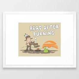 Read After Burning Framed Art Print