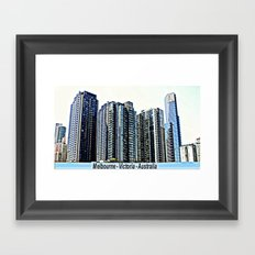 Melbourne CBD Framed Art Print