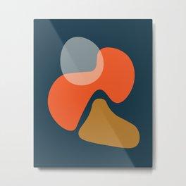 Abstract # 3 Blue Orange Metal Print