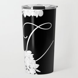 "Custom Bridesmaid Letter ""C"" Travel Mug"