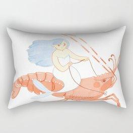 The Magnificent Shrimp Rider Rectangular Pillow