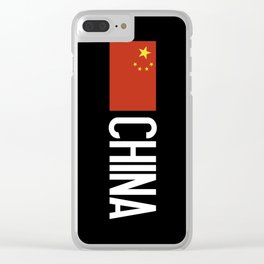 China: Chinese Flag & China Clear iPhone Case
