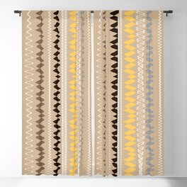 Neutral Lines With Yellow Blue Minimal Abstract Blackout Curtain