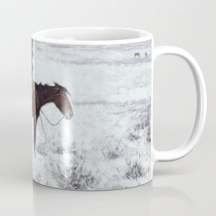 Frederic Remington - The Herd Boy, 1910 Coffee Mug