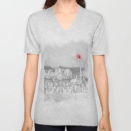 People in the streets Unisex V-Neck