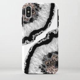 Gray Black White Agate Glitter Glamor #4 #gem #decor #art #society6 iPhone Case