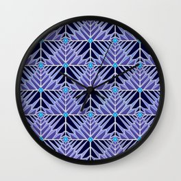 Crystal Feathers Lavender Wall Clock