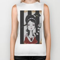 lydia martin Biker Tanks featuring Lydia by Art of Lety Reyes