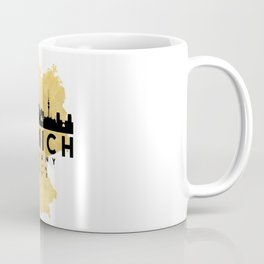 MUNICH GERMANY SILHOUETTE SKYLINE MAP ART Coffee Mug