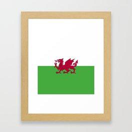 Wales flag emblem Framed Art Print