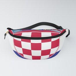 Croatia flag emblem Fanny Pack