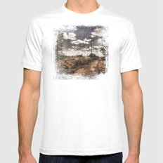 Country Road White Mens Fitted Tee MEDIUM