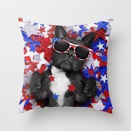 USA DOG Throw Pillow