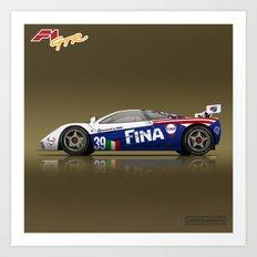 1996 McLaren F1 GTR #17R FINA Art Print