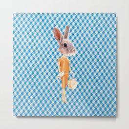 Bunny Person Metal Print