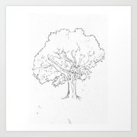 Spreading Tree Art Print