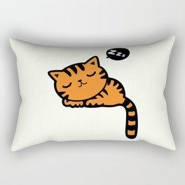 Cute sleeping kitten doodle Rectangular Pillow