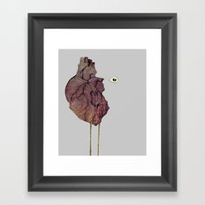 This is not a colorful heart Framed Art Print