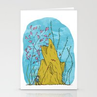 the life aquatic Stationery Cards featuring Our Life Aquatic by Hamburger Hands